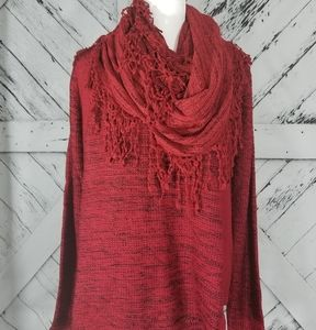 Style & Co Northern Women's Canyon Red Sweater